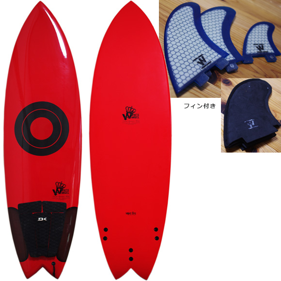 WHITE ANGEL 中古ショートボード 5`10 BEACH WALKER deck/bottom bno9629979a