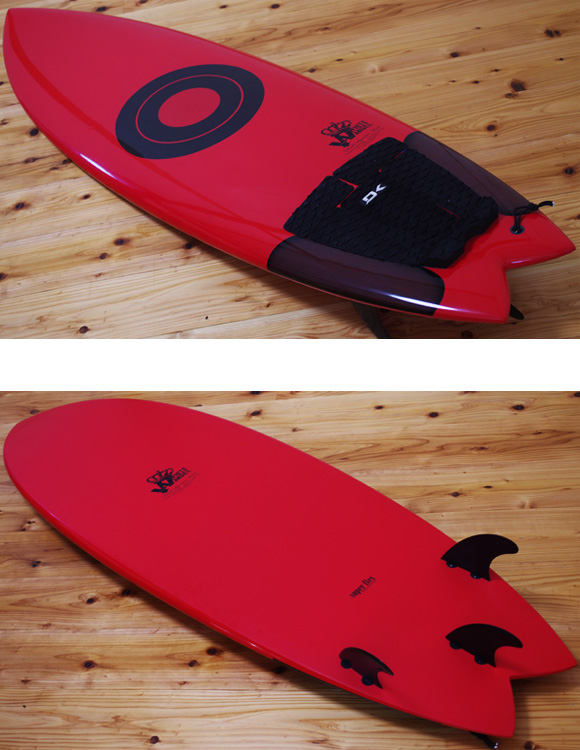 WHITE ANGEL 中古ショートボード 5`10 BEACH WALKER deck/bottom-detail bno9629979b