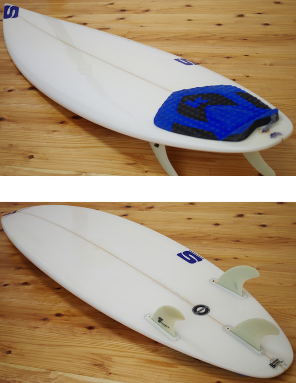 SIMON ANDERSON INTERCEPTOR 中古ショートボード 5`11 deck/bottom-detail bno9629983b