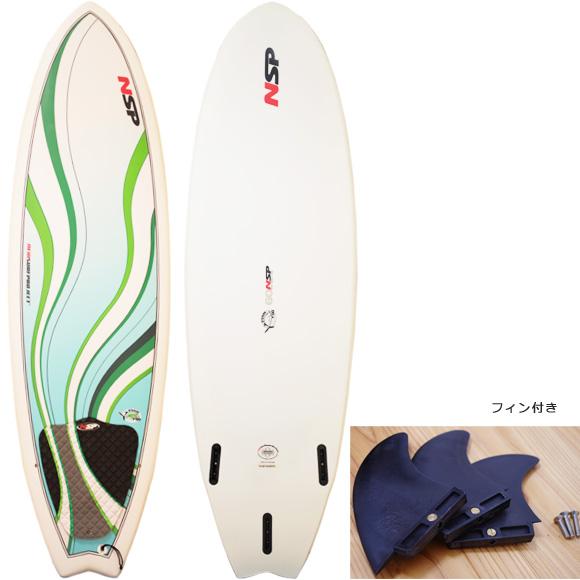 NSP Fish 中古ショートボード 6`0 deck/bottom bno9629984a