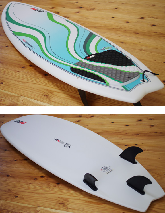 NSP Fish 中古ショートボード 6`0 deck/bottom-detail bno9629984b