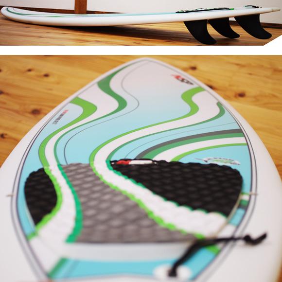 NSP Fish 中古ショートボード 6`0 deck-condition bno9629984c