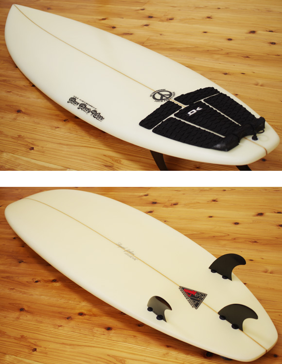 443 SURFBOARDS 中古ショートボード 6`5 deck/bottom-detail bno9629986b