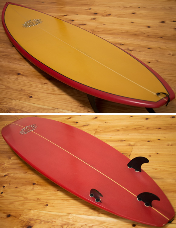 DICK BREWER 中古ファンボード 6`8 deck/bottom-detail bno9629987b