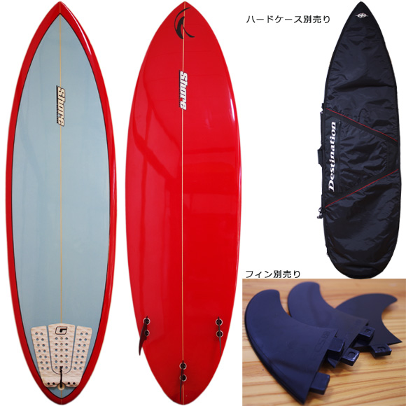 Shore 中古ショートボード 6`4 deck/bottom bno9629990a