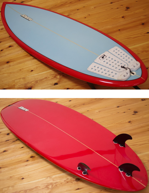 Shore 中古ショートボード 6`4 deck/bottom-detail bno9629990b