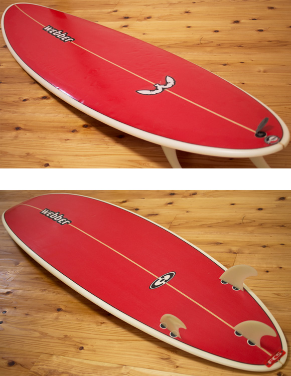 Webber 中古ファンボード 6`6 deck/bottom-detail bno9629991b