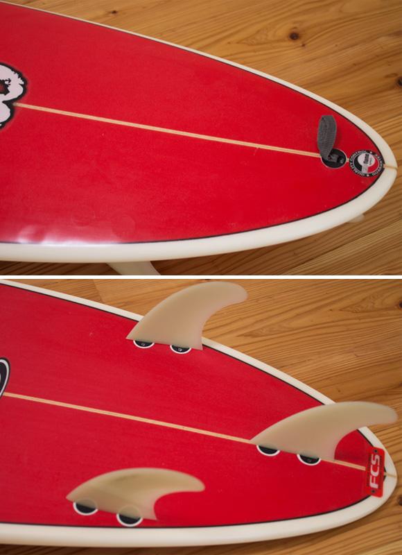 Webber 中古ファンボード 6`6 fin/tail bno9629991d