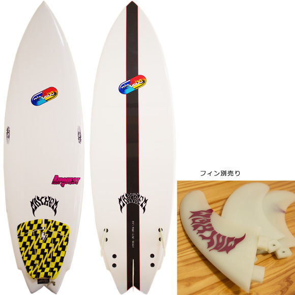 Placebo RIPQUEST 中古ショートボード 5`11 deck/bottom bno9629995a