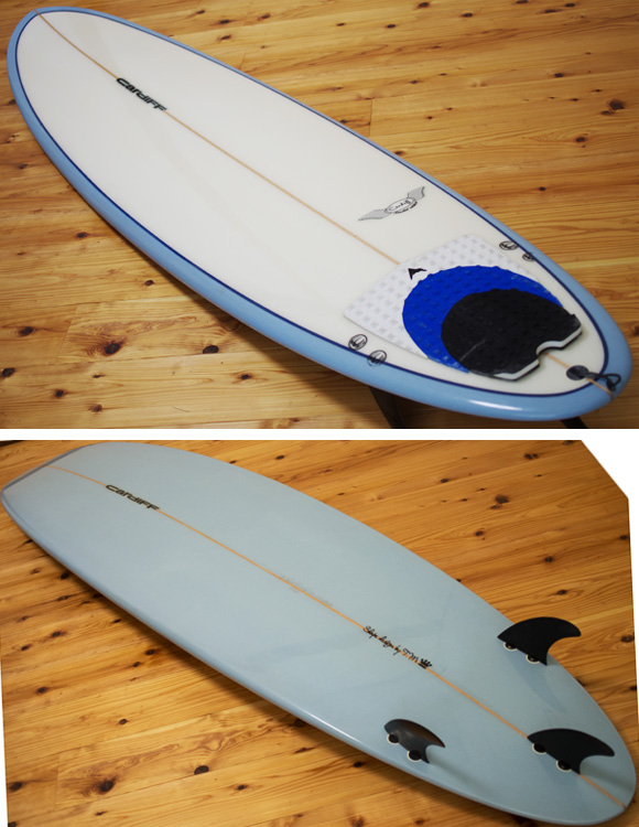 CARDIFF 中古ファンボード 7`6 deck/bottom-detail bno9629996b