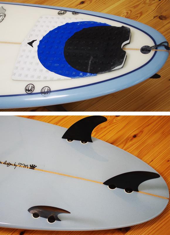 CARDIFF 中古ファンボード 7`6 fin/tail bno9629996d