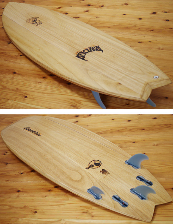 FIREWIRE RNF TIMBER TEK 中古ショートボード 6`0 deck/bottom-detail bno9629998b