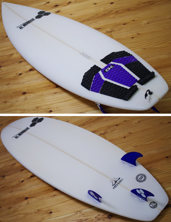 ALMERRIC FRED RUBBLE 中古ショートボード 6`4 deck/bottom-detail bno96291012b