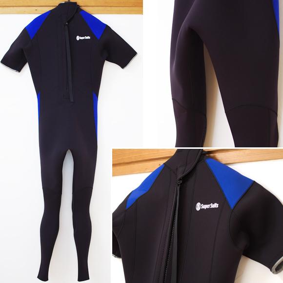 Super Suits 中古ウェットスーツ 3/2mm シーガル back bno96291015b