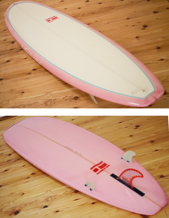 T-STICK 中古ファンボード 6`10 deck/bottom-detail bno96291028b