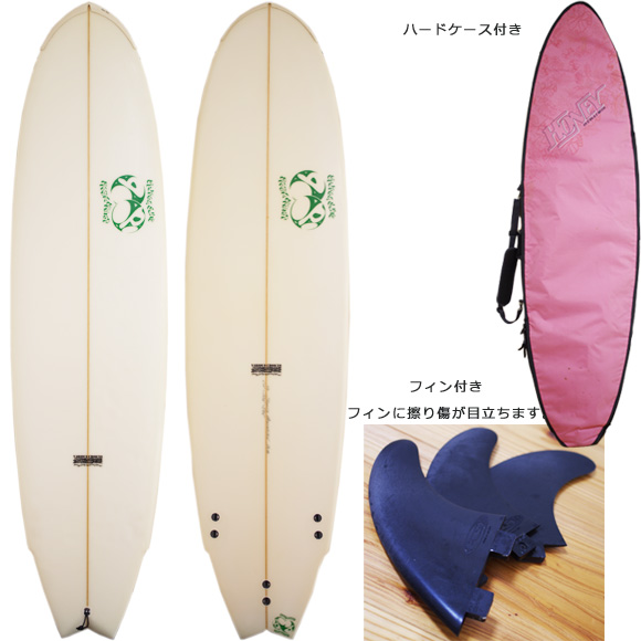 double bubble 中古ファンボード 6`10 deck/bottom bno96291029a