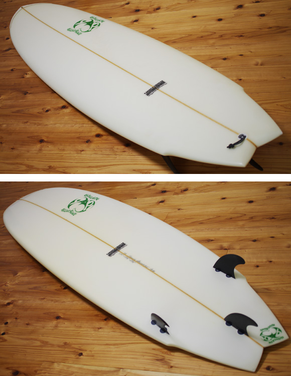 double bubble 中古ファンボード 6`10 deck/bottom-detail bno96291029b