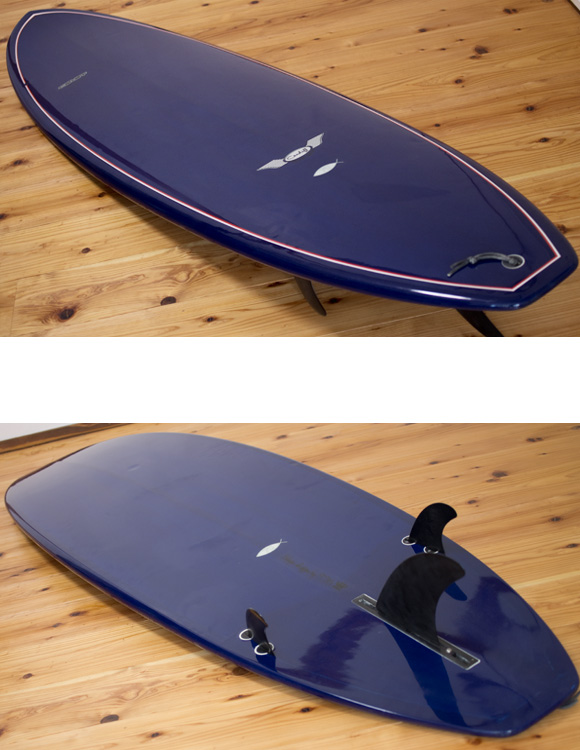 CARDIFF 中古ファンボード6`6 deck/bottom-detail bno96291031b