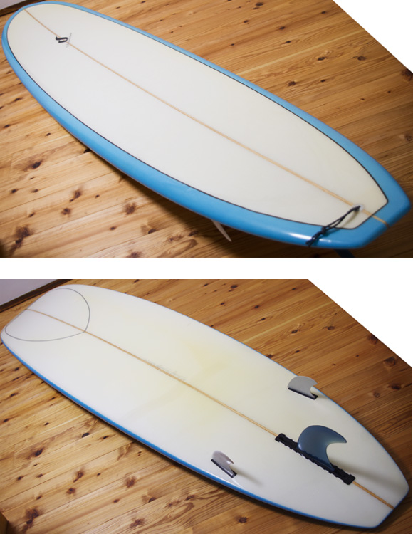 The Seadream 中古ロングボード 9`1 deck/bottom-detail bno96291039b