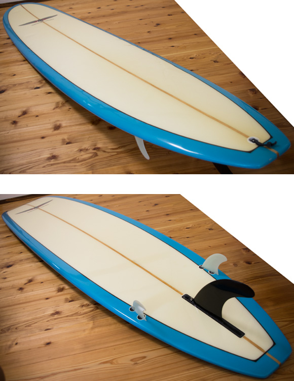 BEAR WATER UNIT 中古ロングボード 9`4 deck/bottom-detail bno96291045b