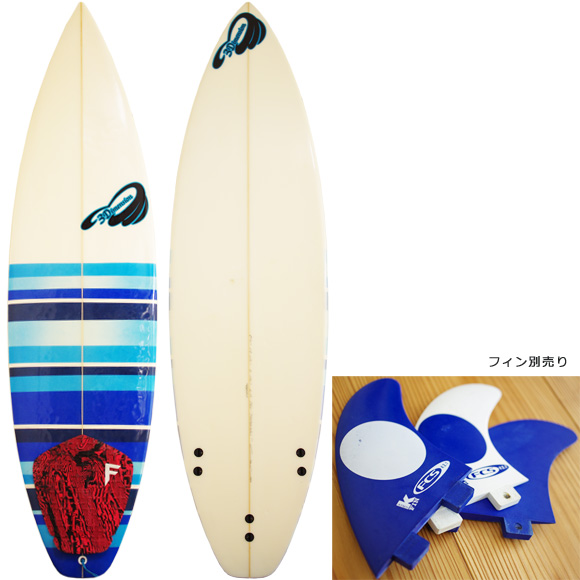 3Dimension LA 中古ショートボード 5`11 deck/bottom  bno96291056a