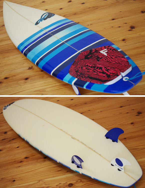 3Dimension LA 中古ショートボード 5`11 deck/bottom-detail bno96291056b