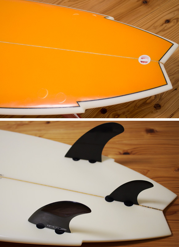 MARK RICHARDS SUPER TWIN 中古ショートボード 5`11 fin/tail bno96291057d