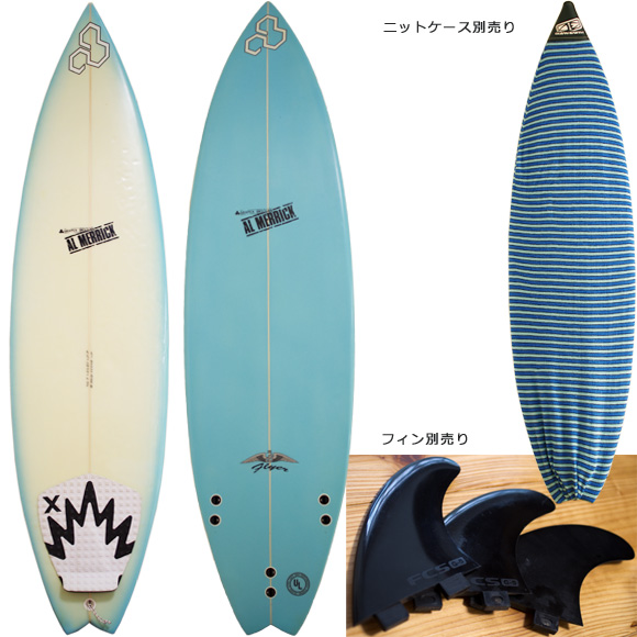 ALMERRIC FLYER-Ⅱ 中古ショートボード 6`0 deck/bottom bno96291061a