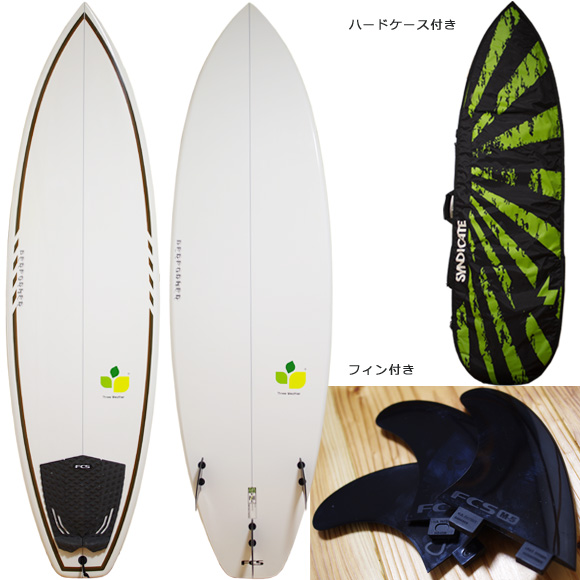 THREE WEATHER PERFORMER 中古ショートボード 6`6 deck/bottom bno96291064a