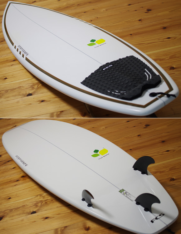 THREE WEATHER PERFORMER 中古ショートボード 6`6 deck/bottom-detail bno96291064b
