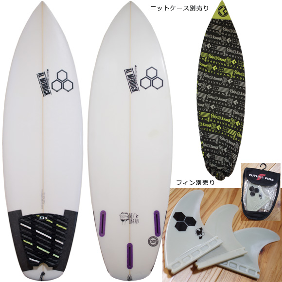 ALMERRIC The Neck Beard 中古ショートボード 5`7 deck/bottom bno96291066a