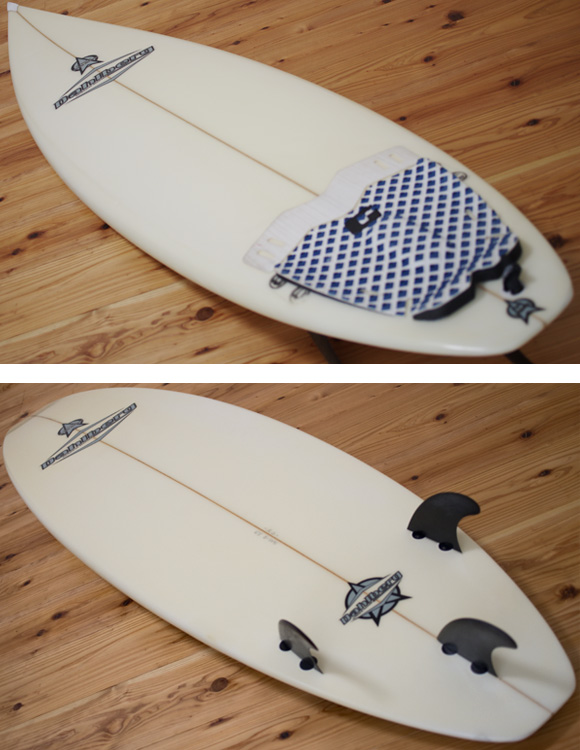 Dahlberg 中古ショートボード 6`3 deck/bottom-detail bno96291067b