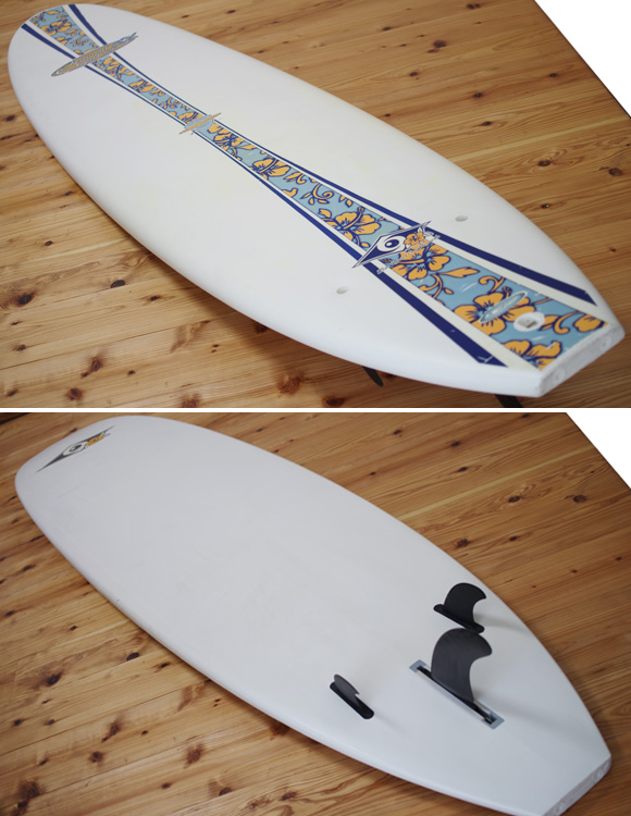 BIC SPORT 中古ファンボード 7`9 deck/bottom-detail bno96291069b