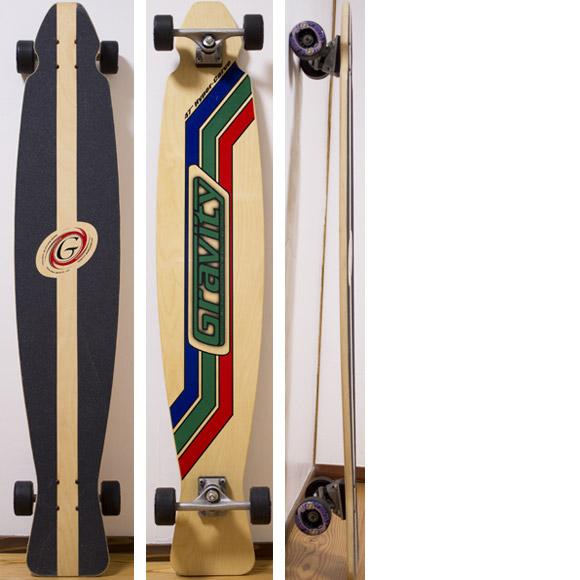 GRAVITY Hyper-Carve 47 中古スケートボード deck/bottom-detail bno96291072a