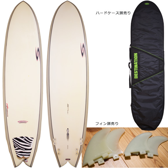 RANDY FRENCH SURFTECH ULTRAFLEX QUADFISH 中古ファンボード 7`8 deck/bottom bno96291078a