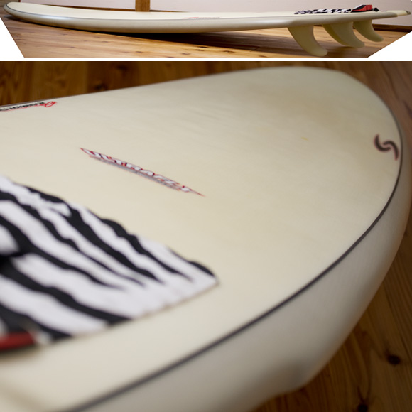 RANDY FRENCH SURFTECH ULTRAFLEX QUADFISH 中古ファンボード 7`8 deck-condition bno96291078c