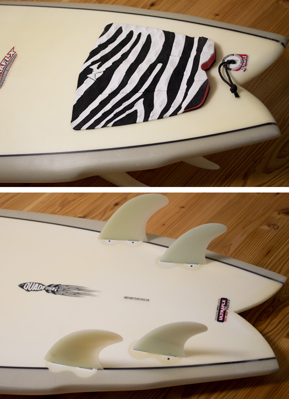 RANDY FRENCH SURFTECH ULTRAFLEX QUADFISH 中古ファンボード 7`8 fin/tail bno96291078d