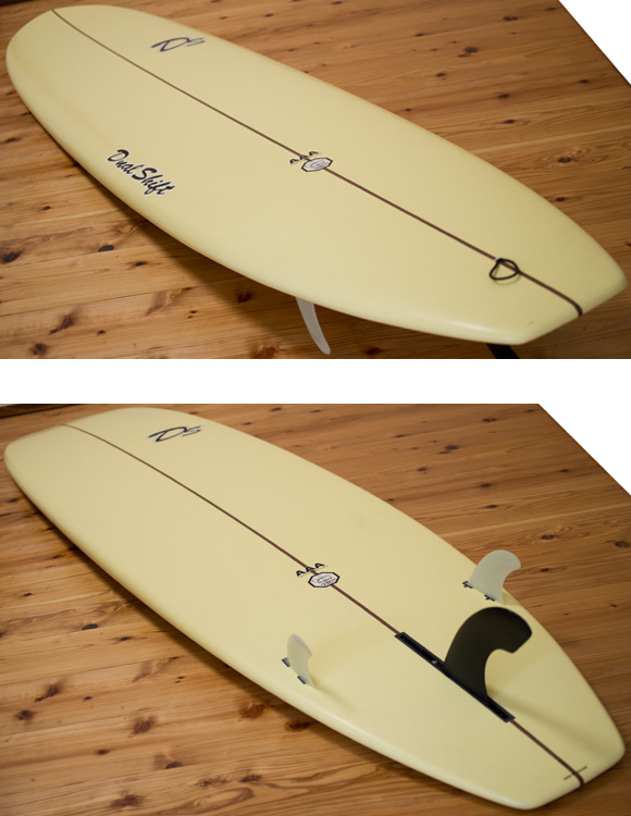 DUAL SHIFT EPS 中古ファンボード 8`0  deck/bottom-detail bno96291080b