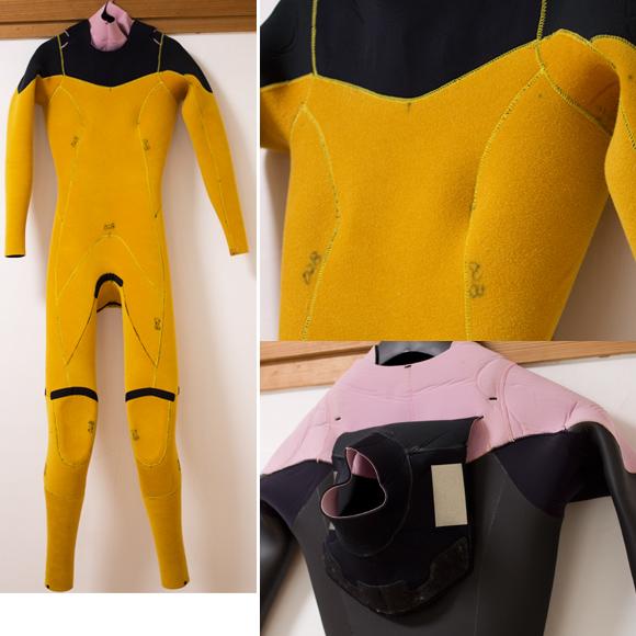 View 中古ウェットスーツ 5/3mm セミドライ ジップレス detail bno96291082c