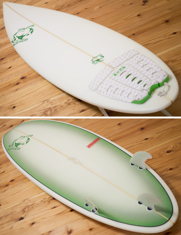 double bubble 中古ショートボード 6`4 deck/bottom-detail bno96291087b
