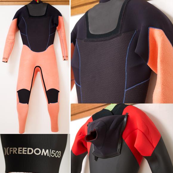 HURLEY 中古ウェットスーツ FREEDOM 5/3mm セミドライ メンズ detail bno96291095c