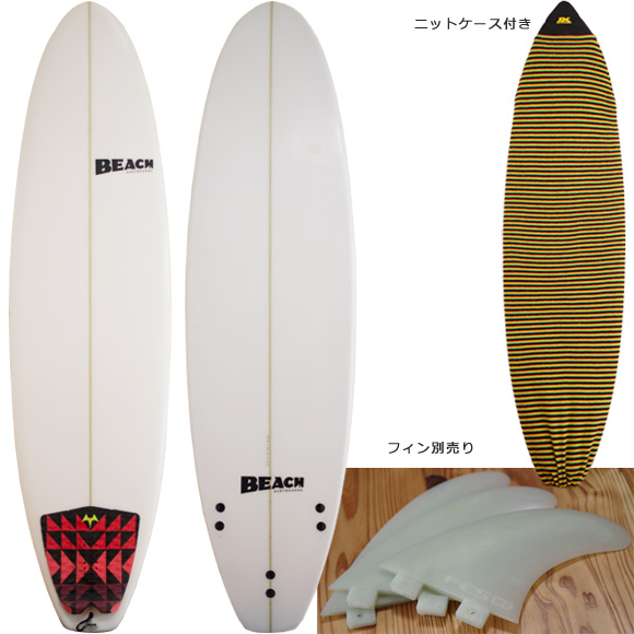 BEACH 中古ファンボード 6`4 deck/bottom bno96291097a