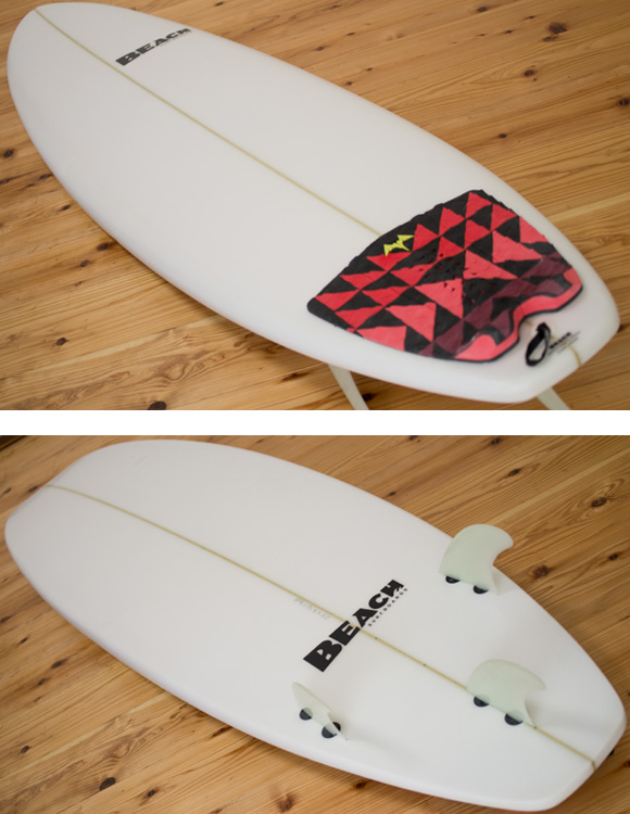 BEACH 中古ファンボード 6`4 deck/bottom-detail bno96291097b