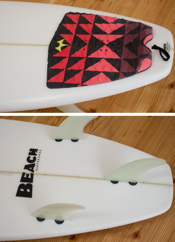 BEACH 中古ファンボード 6`4 fin/tail bno96291097d