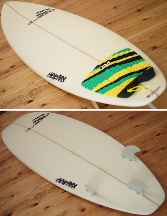 Billabong BJ-LIMITED 中古ファンボード 6`8 deck/bottom-detail bno96291098b