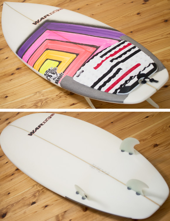 Warner BANDIT 中古ショートボード 6`0 deck/bottom-detail bno96291102b