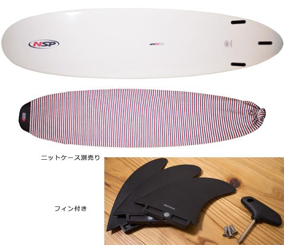 NSP 中古ファンボード7`6 EPOXY bottom/ニットケース bno96291108a