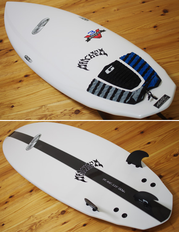 Placebo V3 ROCKET 5`9 中古ショートボード deck/bottom-detail bno96291113b