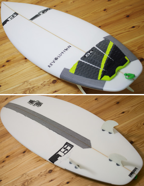 JS Revolution 中古ショートボード 5`7 deck/bottom-detail bno96291117b