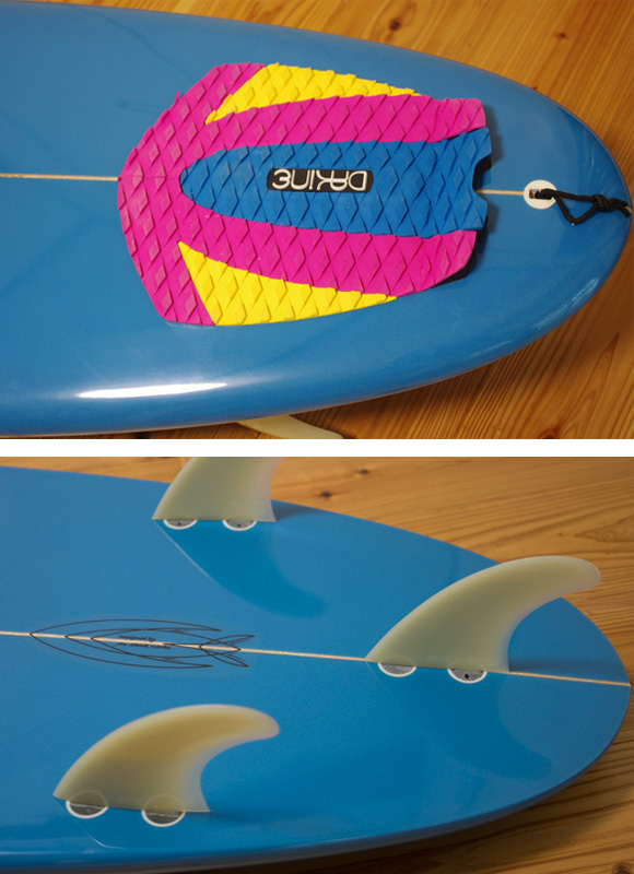TIDEX EPS 中古ショートボード 5`7 fin/tail bno96291119d